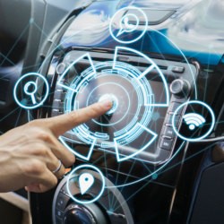 car automotive vehicle digital technology futuristic